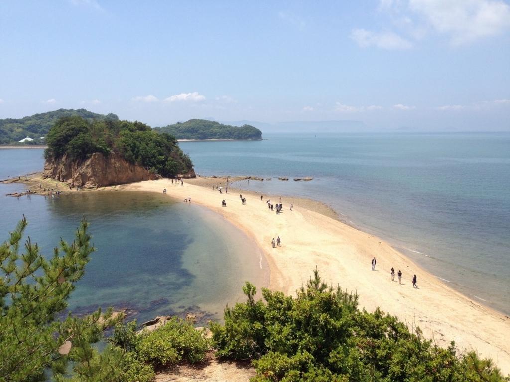 天使の散歩道と呼ばれる砂浜