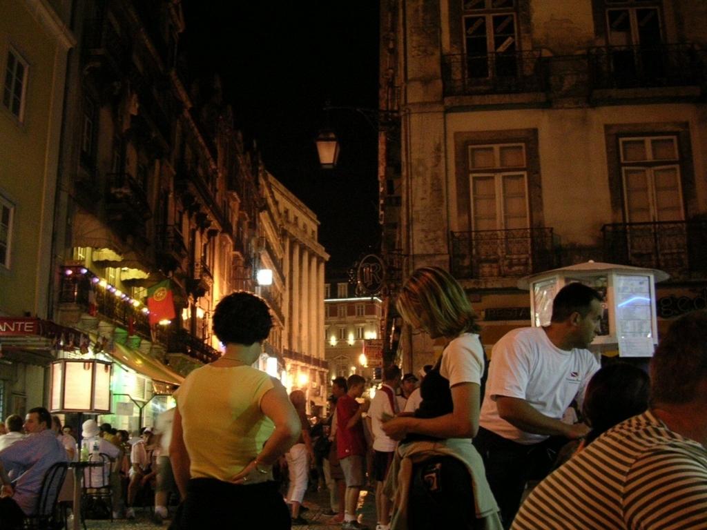 夜のレストラン街