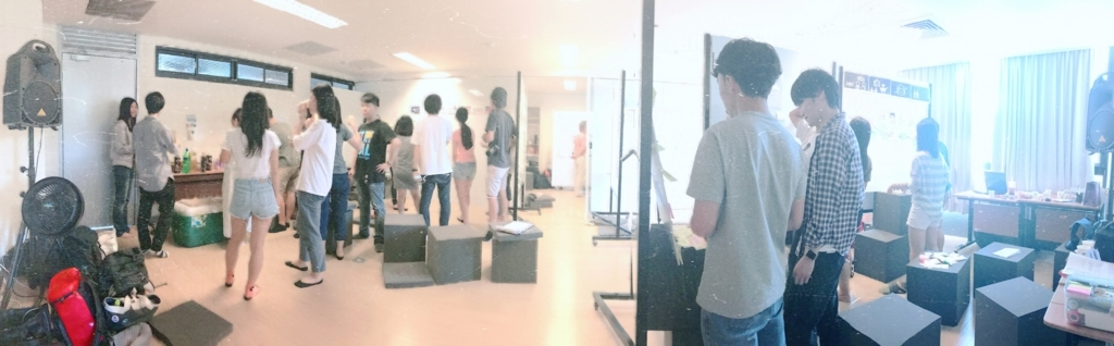 ワークショップ中の場をパノラマ撮影したもの