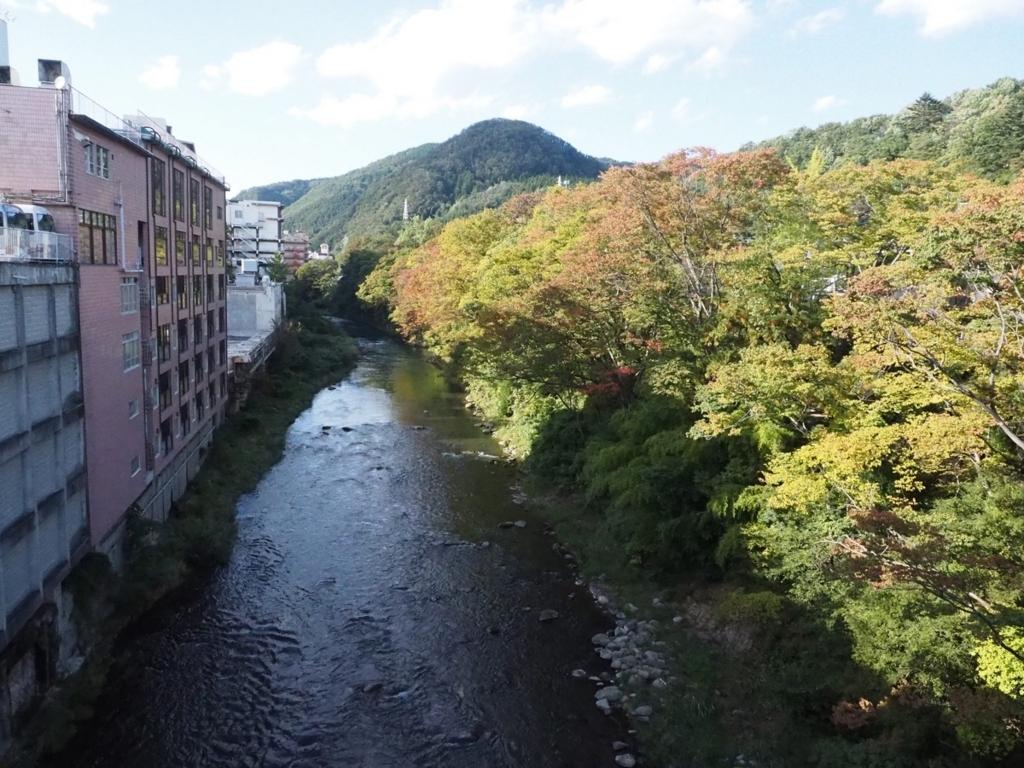 初秋・新十綱橋から見る摺上川