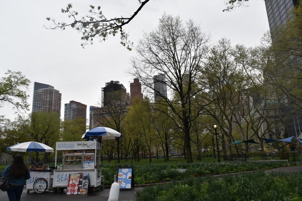 ニューヨーク,公園,バッテリーパーク