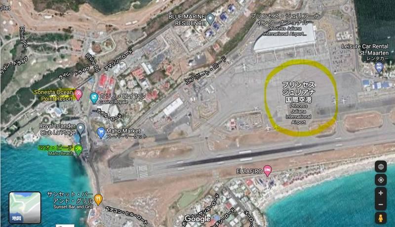 グーグルマップの航空写真