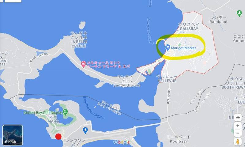 マリゴまでの地図