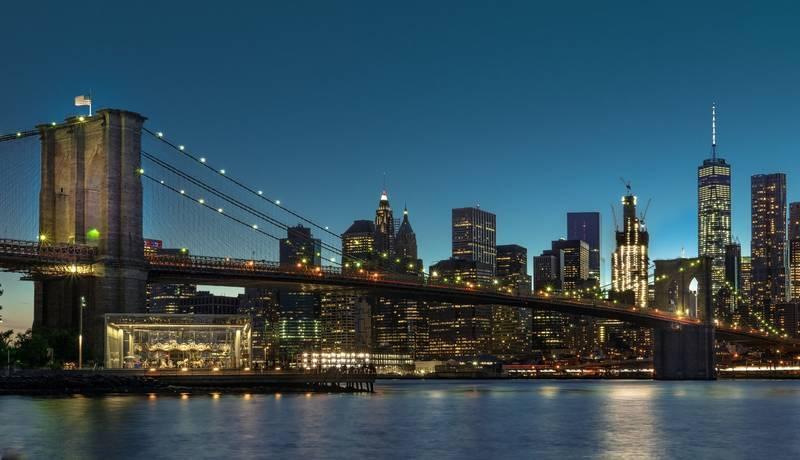 ブルックリンブリッジの夜景