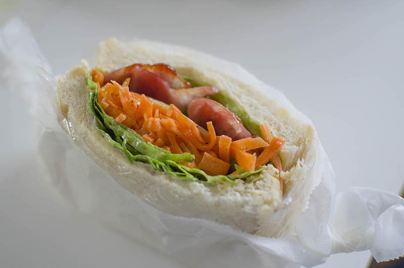 ニンジンサンドイッチ