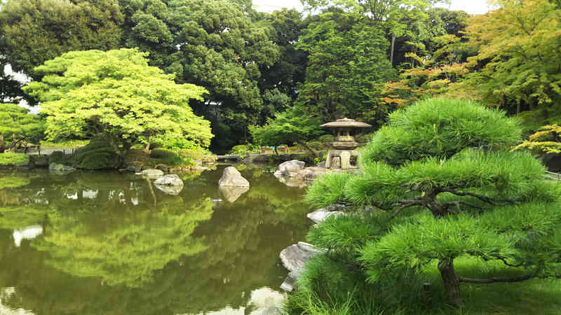 日本庭園にある『心字池(しんじいけ)』