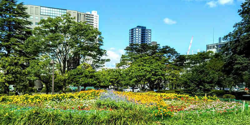『勾当台公園』の花壇