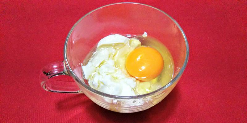 卵も入れた豆腐と砂糖