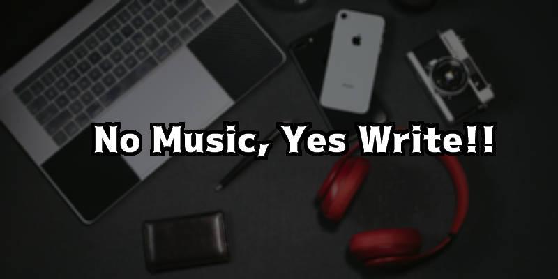 音楽をかけながら文章を書くってムチャクチャ難しくないですか?