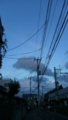 イルカみたいな雲