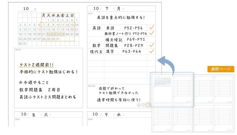 勉強計画ノート
