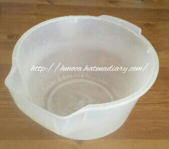 プラスチック製米とぎボウル