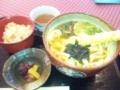 京都鈴虫寺の辺りはとろろそばが名物らしいが会えて天ぷらうどん