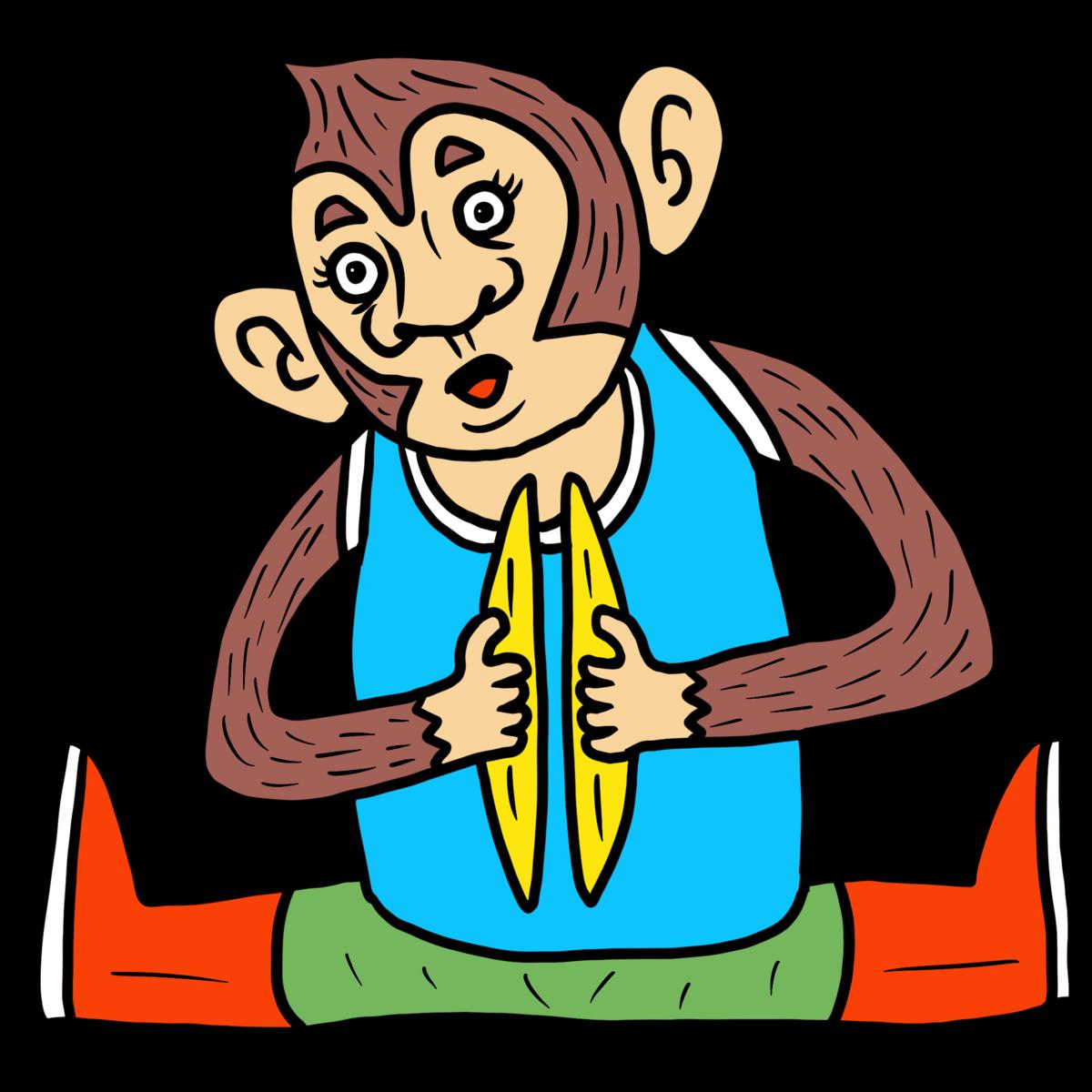 シンバルをガシャンガシャンと鳴らすかわいいおサルのおもちゃ