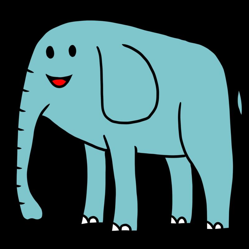 パオーンと言いたくなるかわいい象さん
