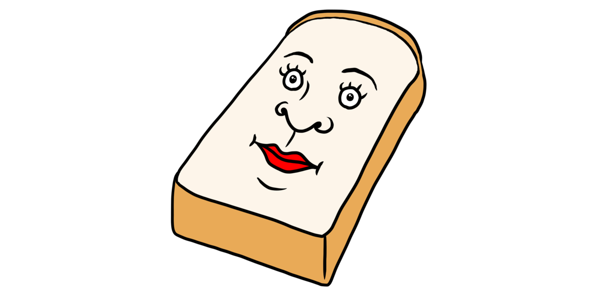 変な名前の食パンのイラスト