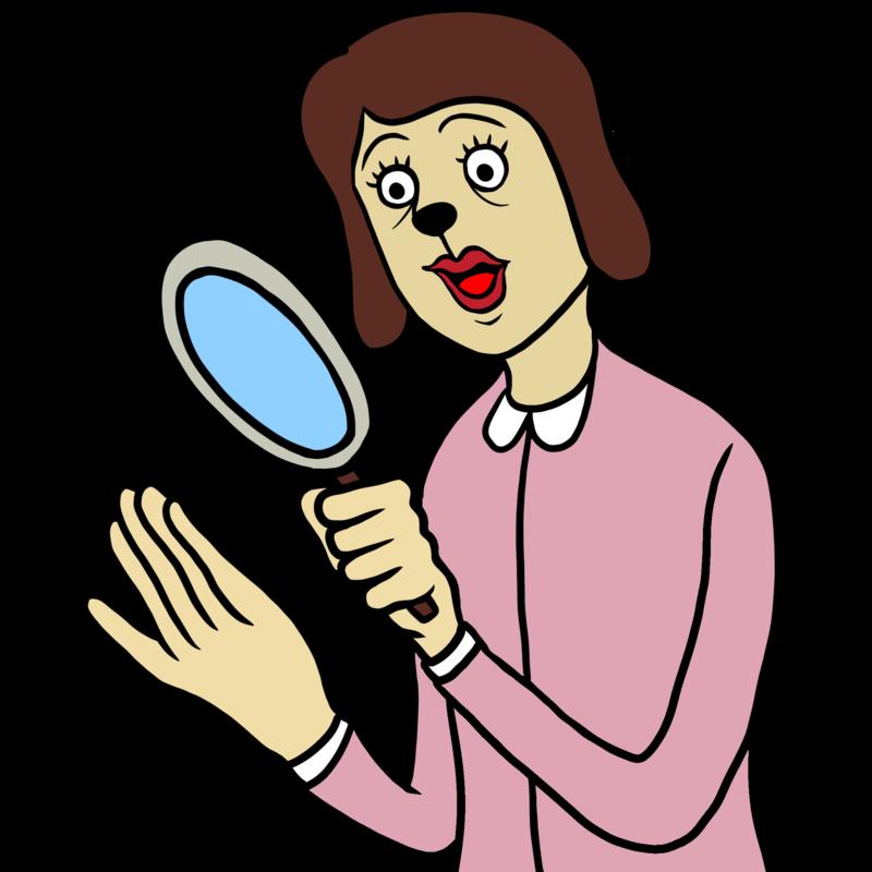 手相を見る女性のイラスト