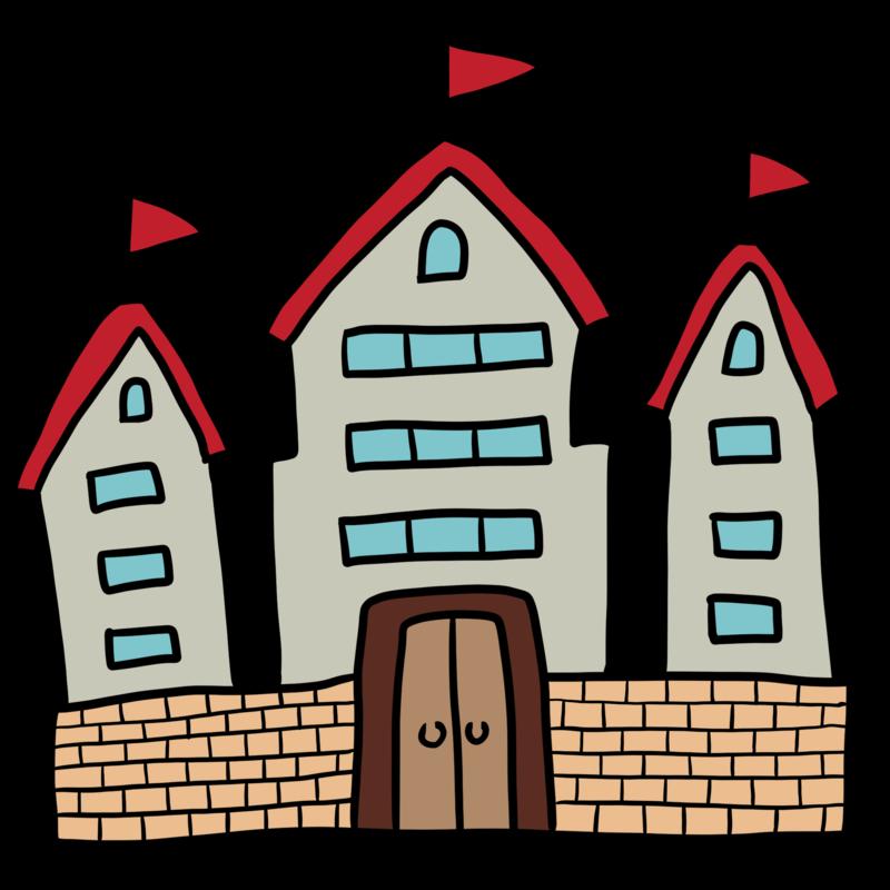 お城のようなお家のイラスト