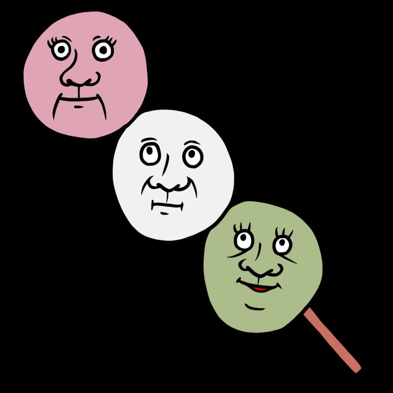 花見団子のイラスト