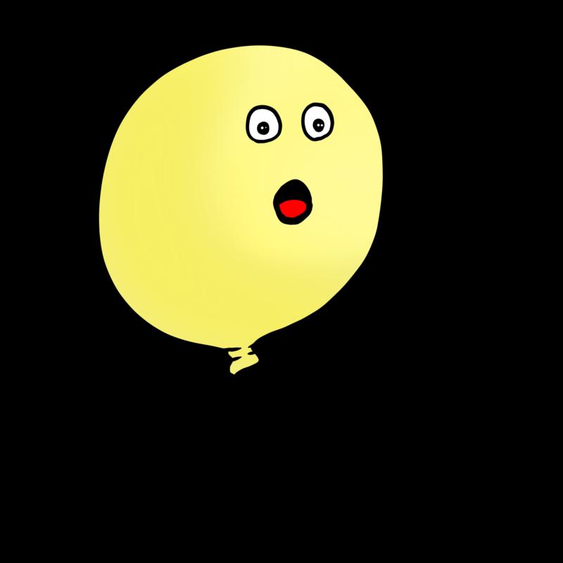 黄色い風船のイラスト