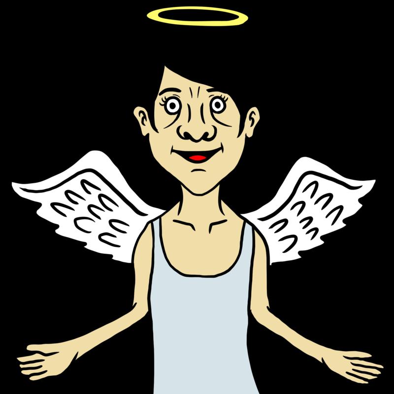 本当にいそうな天使のイラスト