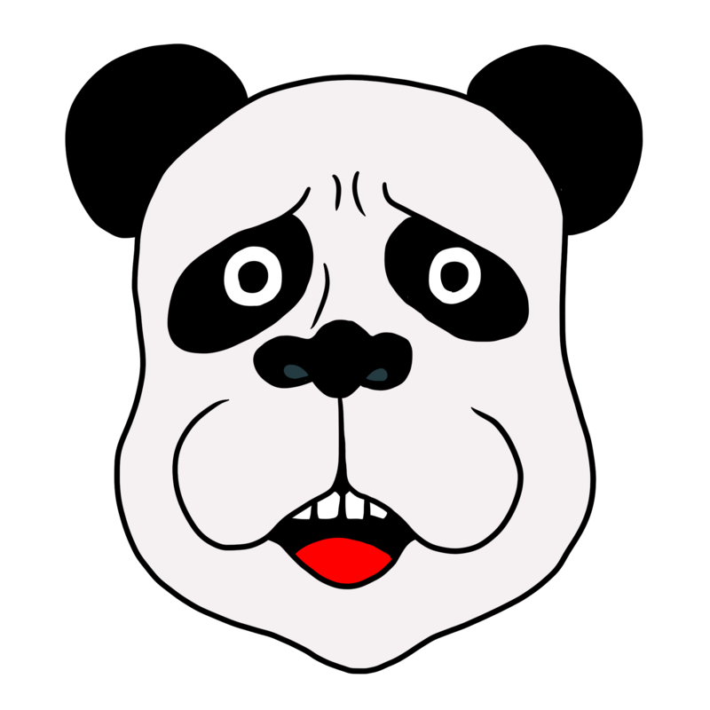 困り顔のかわいいパンダのイラスト