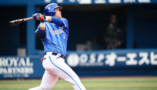 筒香嘉智選手は、打率.322、44本塁打、110打点という成績