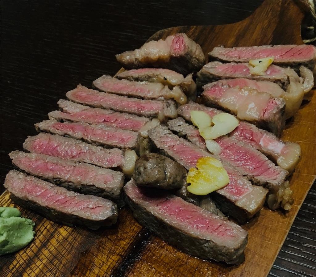 ステーキを盛り付ける