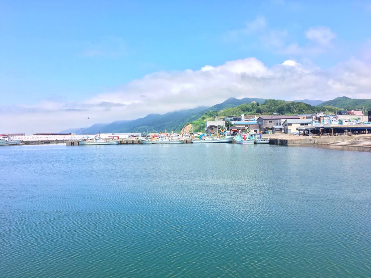 昼の厚田港