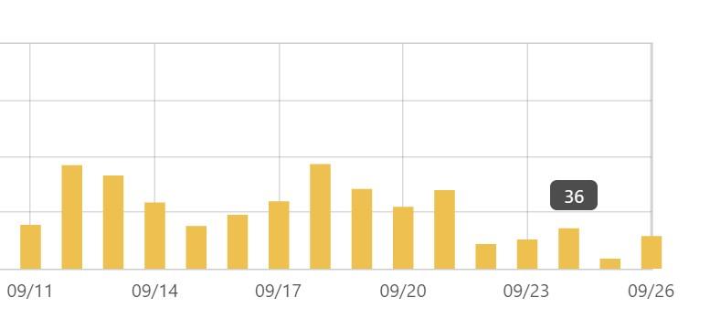 はてなブログのアクセス解析の画像