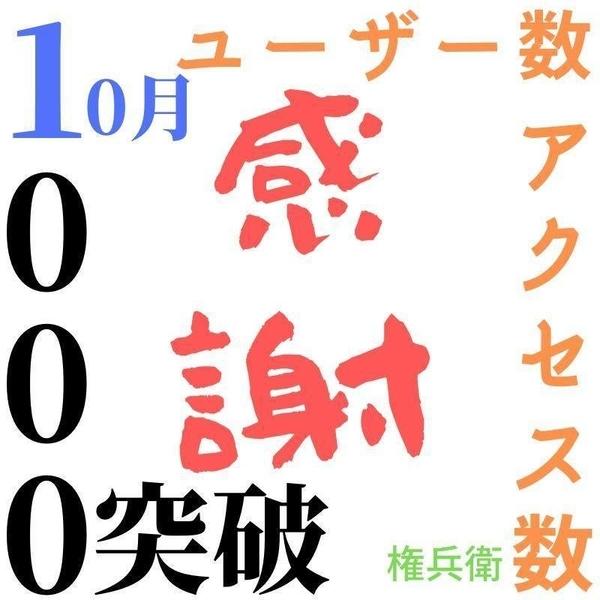 1000アクセスユーザー数突破記念画像