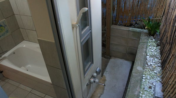 裏口のシャワーと浴室