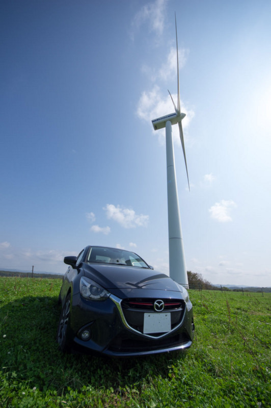 DJデミオと風力発電
