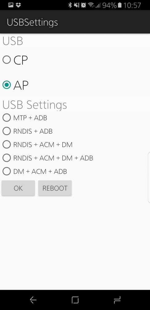 USBセッティング