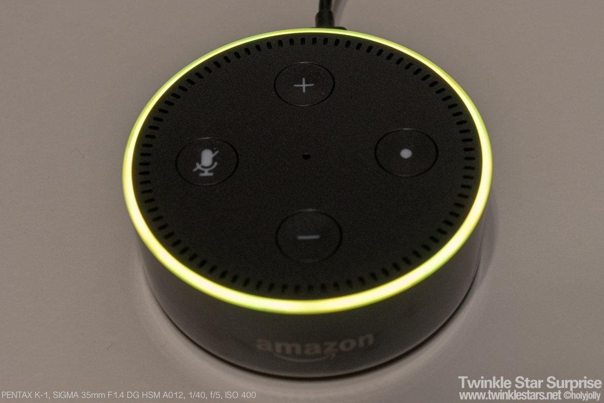 Echo dot黄色点灯