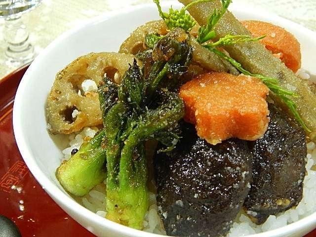野菜の竜田丼