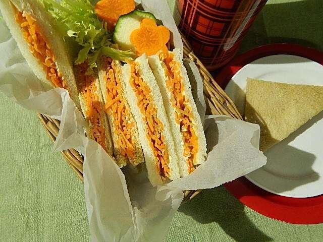 にんじんのサンドイッチ