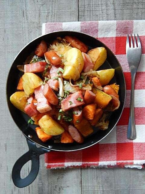 ゴロゴロ野菜のフライドサラダ