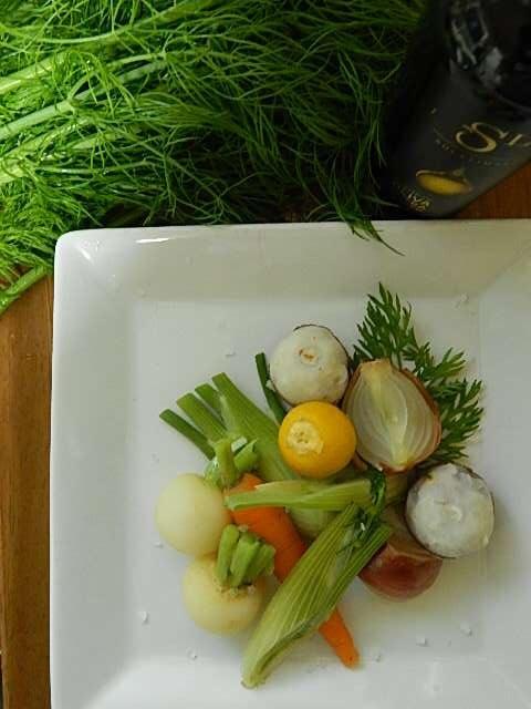 ミニ野菜の温サラダ