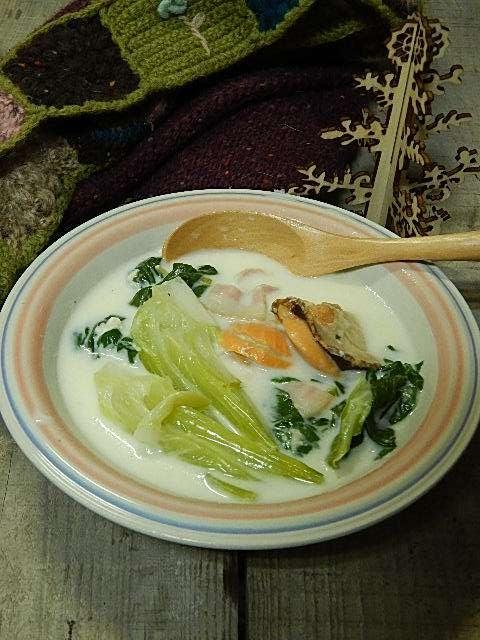 チンゲンサイのミルクスープ