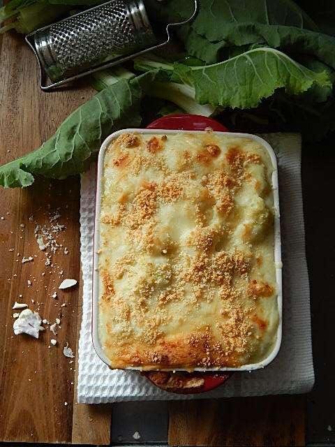 カリフラワーのWチーズグラタン
