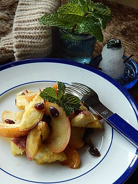 リンゴとサツマイモのソテー