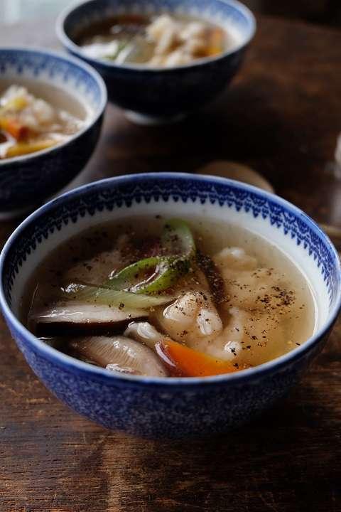 中華風すいとんスープ