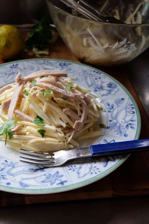 セロリアックとゆで豚のサラダ