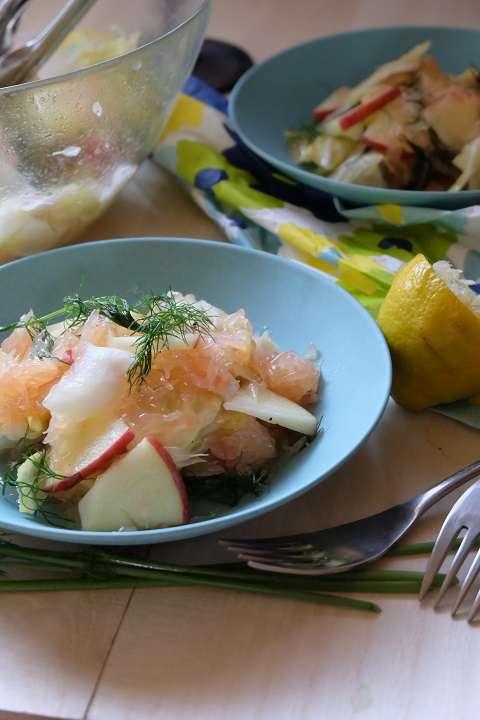 白菜のフルーツマリネ