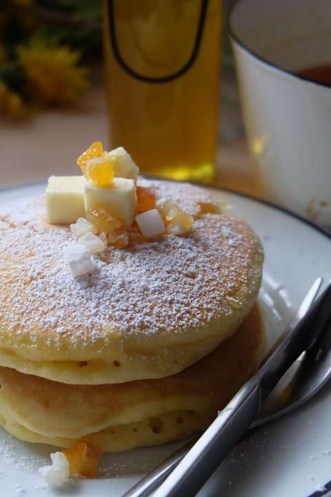 タンポポ・シロップのパンケーキ