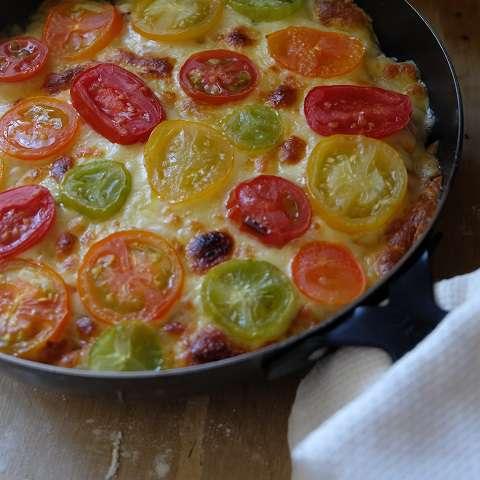 チーズに焦げ色がつくまで焼く