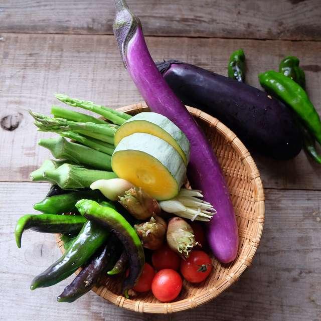 使った野菜たちの写真