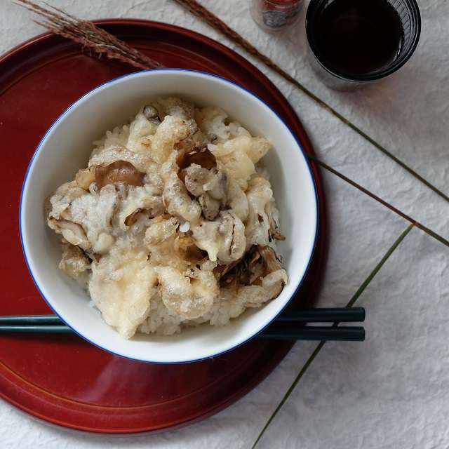 舞茸天丼の写真