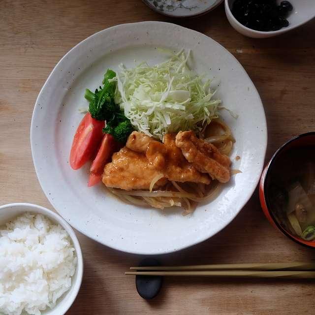 鶏ささみの生姜焼き